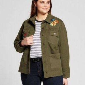 MOVING SALE Who What Wear Embroidered Army Jacket